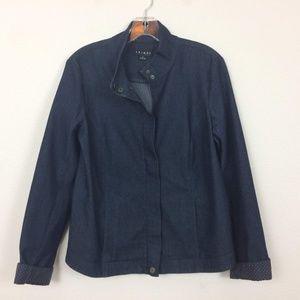 Tribal Blue Denim Zip Up Jacket